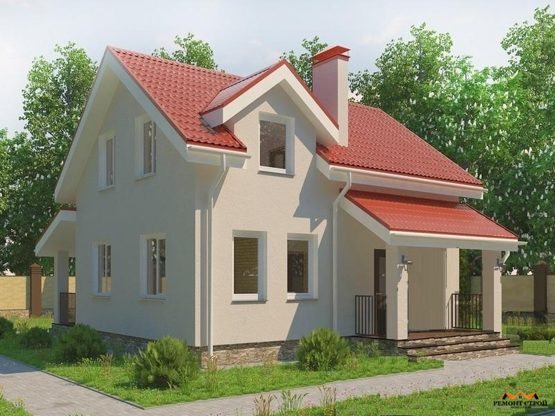 Дом из кирпича к-108