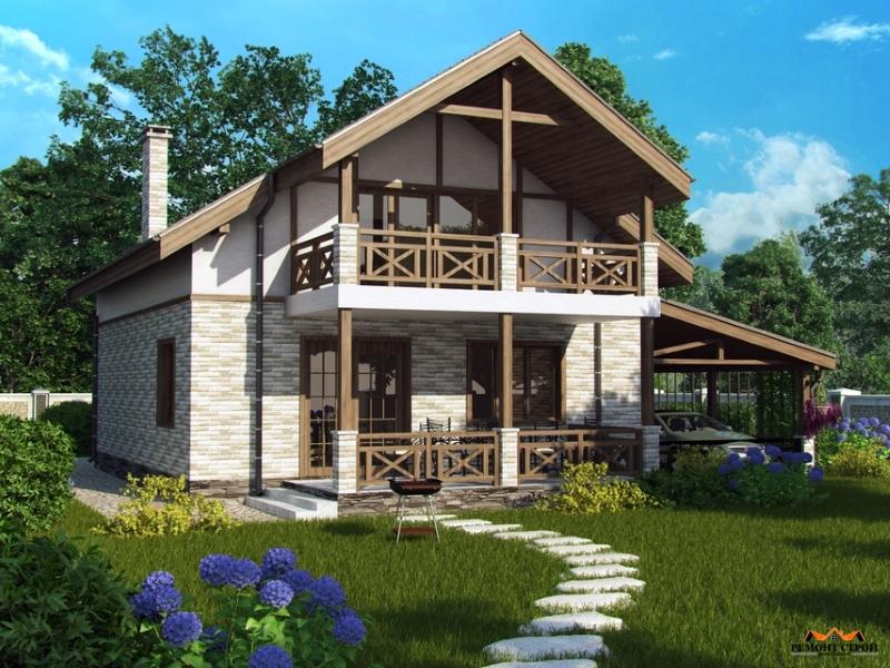 Дом из кирпича к-125
