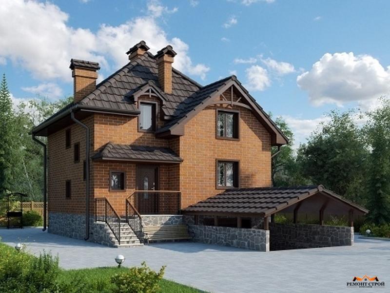Дом из кирпича к-146