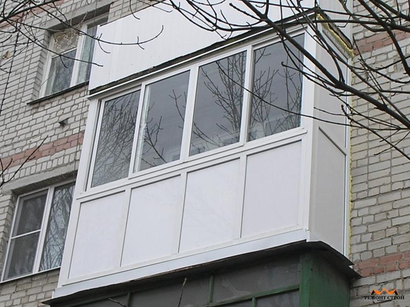 Остекление лоджии балкона