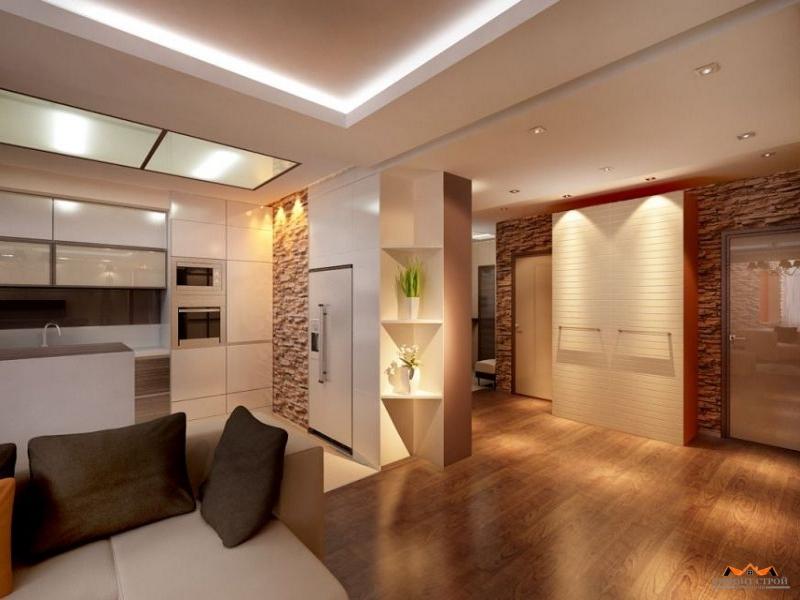Отделка двухкомнатных квартир