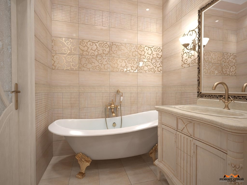 Отделка плиткой ванной комнаты