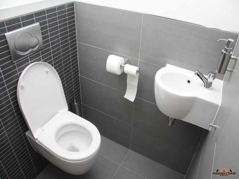 Ремонт туалета плиткой