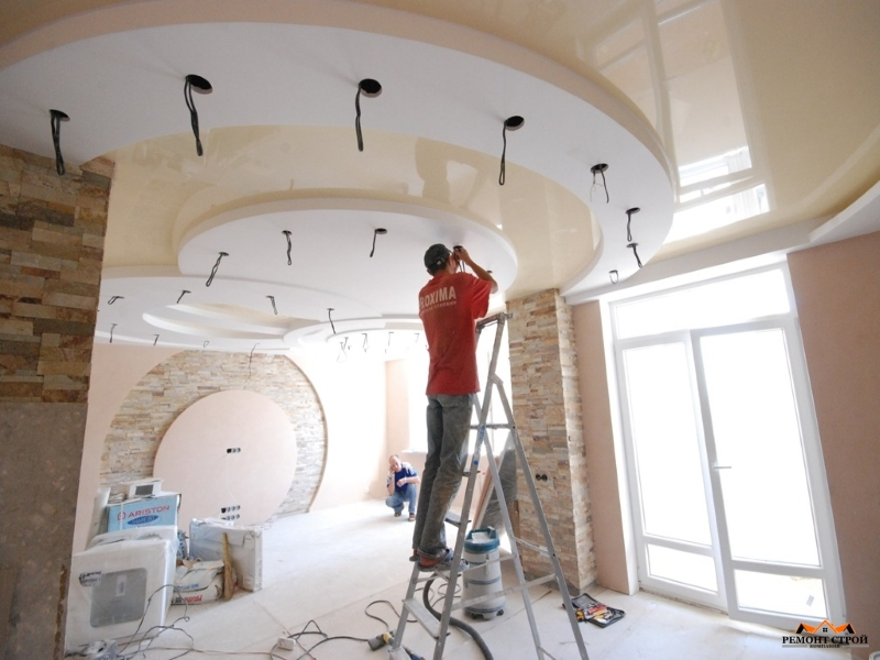 Ремонт подвесных потолков
