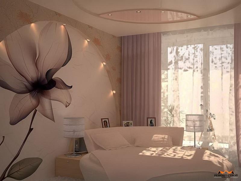Ремонт стен в спальне