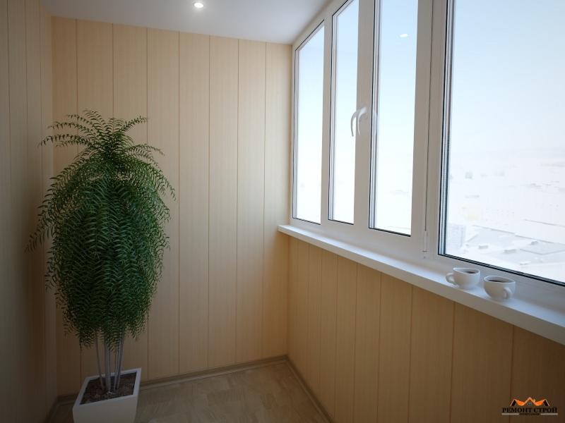 Стоимость отделки балкона