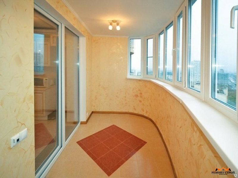 отделка балкона кирпичом