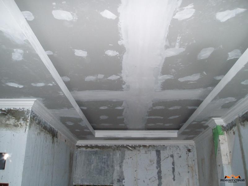 отделочные работы потолка