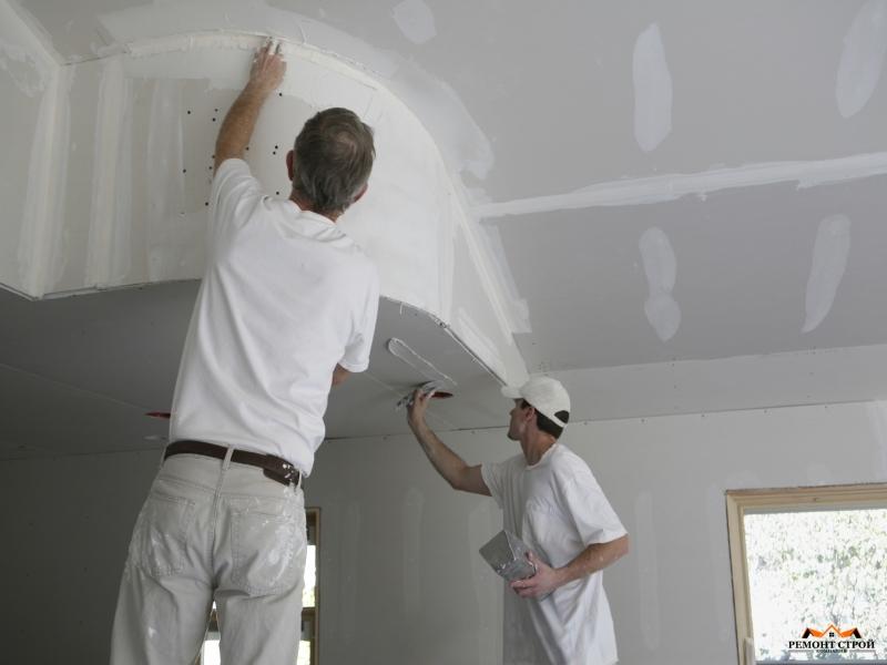ремонт покраска потолков
