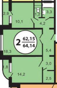 Смета на евроремонт 2 квартиры 64 м2