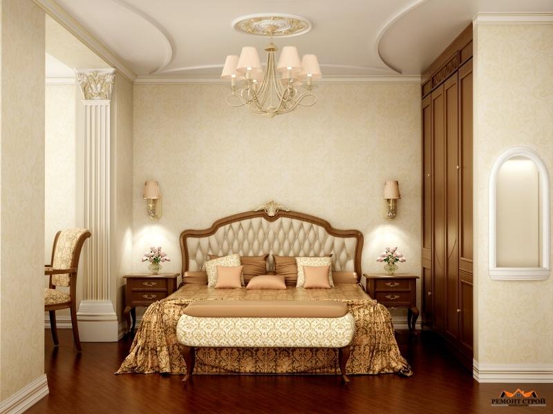 Дизайнерский ремонт спальной